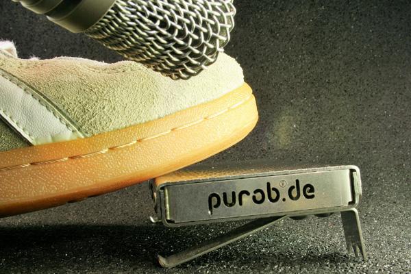 Purob Perkussionsinstrument mit externem Mikro